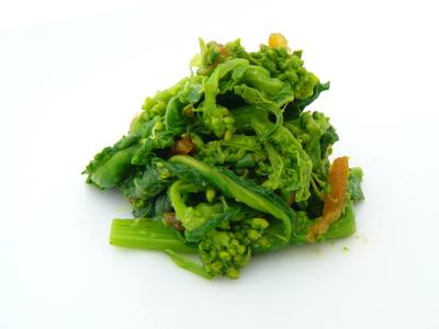ゆずしぼりとゆずみそで菜の花の酢味噌和え.JPG