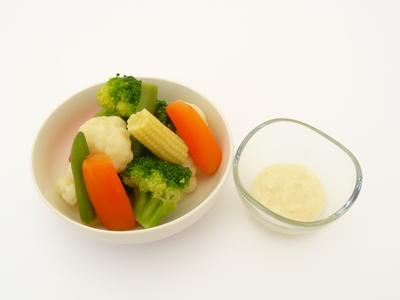 温野菜をゆずマヨネーズで.JPG